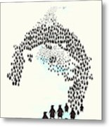 March Of The Penguins Metal Print