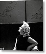 Marilyn Candid Moment Metal Print