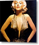 Marilyn Monroe Portrait Metal Print