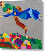 Mark And Bella Chagall Above The City Metal Print