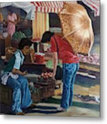 Market Scene Divisoria Metal Print