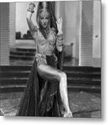 Marlene Dietrich Dressed As Harem Queen Metal Print