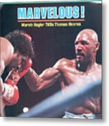Marvelous Marvin Hagler, 1985 Wbc Wba Ibf Middleweight Title Sports Illustrated Cover Metal Print