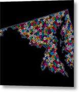 Maryland Map - 2 Metal Print