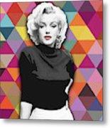 Marylin Monroe Diamonds Metal Print