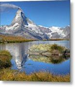 Matterhorn From Lake Stelliesee 07, Switzerland Metal Print