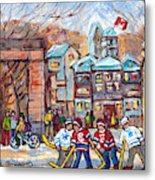 Mcgill University Roddick Gates Original Painting For Sale Hoockey Art C Spandau Canadian City Scene Metal Print