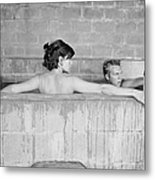 Mcqueen & Adams In Sulphur Bath Metal Print