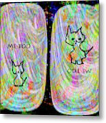 Me Too Cats Metal Print