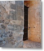 Medieval Castle Entrance In Algarve Metal Print