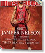 Meet Jameer Nelson The Little Man From The Little School Sports Illustrated Cover Metal Print
