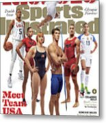 Meet Team Usa 2016 Rio Olympic Games Preview Sports Illustrated Cover Metal Print