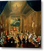 Meeting Of The Masonic Lodge, Vienna Metal Print