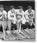 Members Of The Chicago Cubs Metal Print