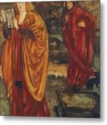 Merlin And Nimue 1861 Metal Print