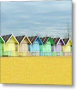 Mersea Island Beach Huts, Image 1 Metal Print
