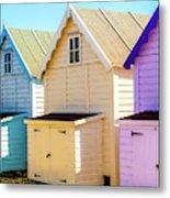 Mersea Island Beach Huts, Image 6 Metal Print