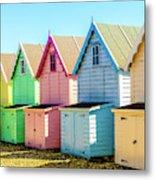 Mersea Island Beach Huts, Image 7 Metal Print