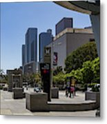Metro Station Civic Center Los Angeles Metal Print