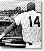 Mets Manager Gil Hodges Gets Catchers Metal Print