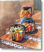 Mexican Pottery Still Life Metal Print