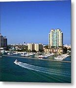 Miami Beach Marina Metal Print