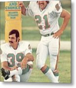 Miami Dolphins Jim Kiick And Larry Csonka Sports Illustrated Cover Metal Print