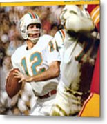Miami Dolphins Qb Bob Griese, Super Bowl Vii Sports Illustrated Cover Metal Print