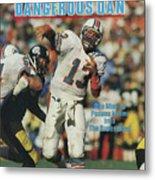 Miami Dolphins Qb Dan Marino, 1985 Afc Championship Sports Illustrated Cover Metal Print