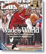 Miami Heat Dwyane Wade, 2006 Nba Eastern Conference Finals Sports Illustrated Cover Metal Print