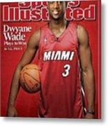 Miami Heat Dwyane Wade Sports Illustrated Cover Metal Print