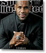 Miami Heat LeBron James, 2012 Sportsman Of The Year Sports Illustrated Cover Metal Print