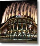Miami Marlins V New York Mets Metal Print