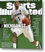 Michigan State University Kalin Lucas, 2009 Ncaa Midwest Sports Illustrated Cover Metal Print