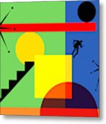 Mid Century Modern Abstract Over The Edge 20190106 Horizontal Metal Print