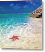 Middle Caicos Tranquility Awaits Metal Print