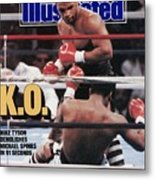 Mike Tyson, 1988 Wbcwbaibf Heavyweight Title Sports Illustrated Cover Metal Print