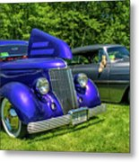 Mild Customs 1936 Ford And 1953 Chevy Metal Print