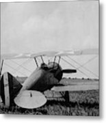 Military Biplane - Marine Flying Field - 1918 Metal Print