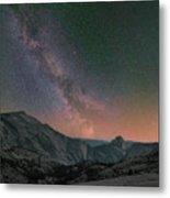 Milky Way Over Half Dome, Yosemite Metal Print