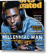 Millennial Man Pittsburgh Steelers Juju Smith-schuster Sports Illustrated Cover Metal Print