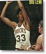 Milwaukee Bucks Lew Alcindor... Sports Illustrated Cover Metal Print
