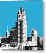 Milwaukee Skyline - 4 - Coral Metal Print