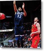Minnesota Timberwolves V Atlanta Hawks Metal Print