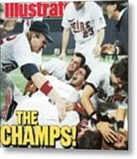 Minnesota Twins Dan Gladden, 1987 World Series Sports Illustrated Cover Metal Print