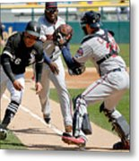 Minnesota Twins V Chicago White Sox Metal Print