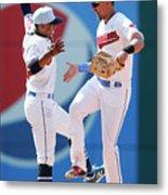 Minnesota Twins V Cleveland Indians Metal Print