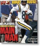 Minnesota Vikings Anthony Carter, 1988 Nfc Divisional Sports Illustrated Cover Metal Print