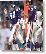 Minnesota Vikings Qb Fran Tarkenton, 1973 Nfc Championship Sports Illustrated Cover Metal Print