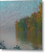 Mississippi Rivers Edge Metal Print